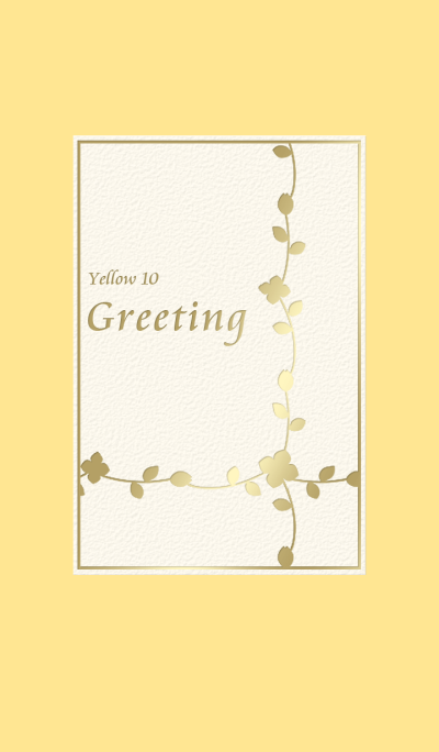 Greeting/Yellow 10