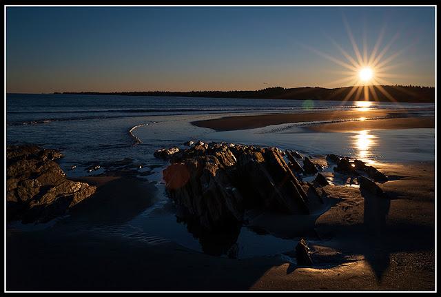 Risser's Beach; Nova Scotia; Rock; Sunset