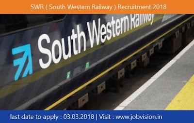 SWR ( South Western Railway ) Recruitment 2018
