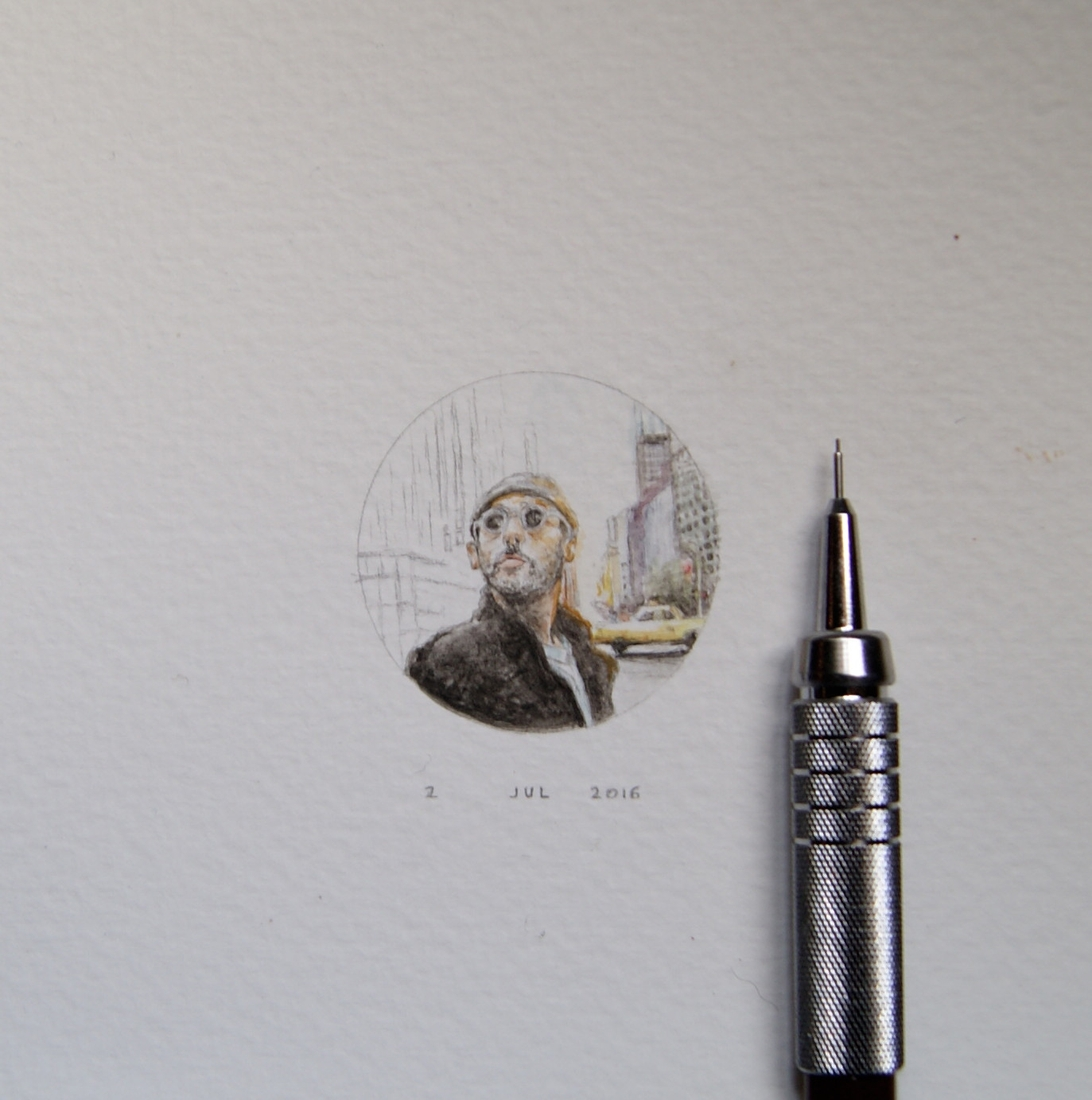 04-Leon-the-Professional-Guillermo-Méndez-Mr-Luigi-Miniature-Drawings-and-Watercolor-Paintings-www-designstack-co