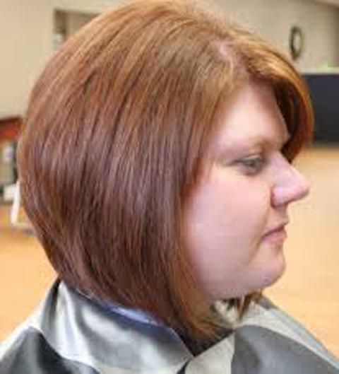 gambar model rambut bob wanita gemuk