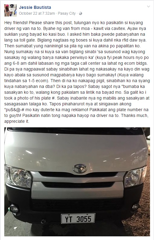 Jessie Bautista full Facebook post