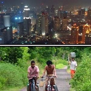 gambar desa vs kota