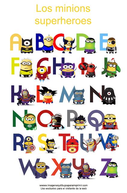 Abecedario de los minions superheroes