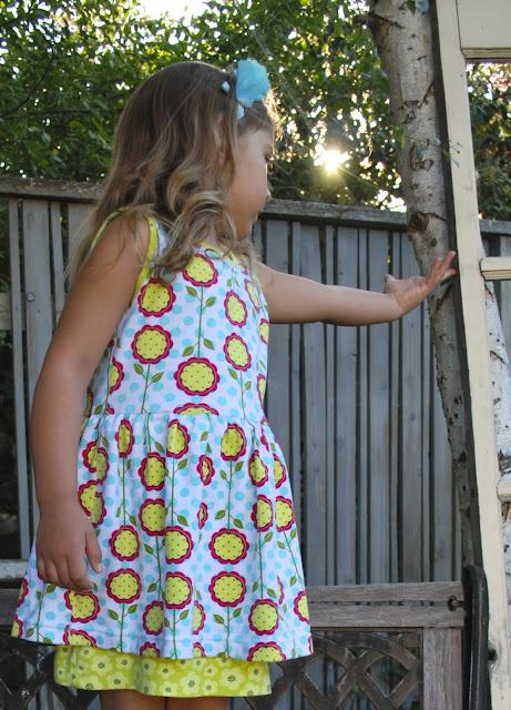 Peep hem dress by Rock the Stitch