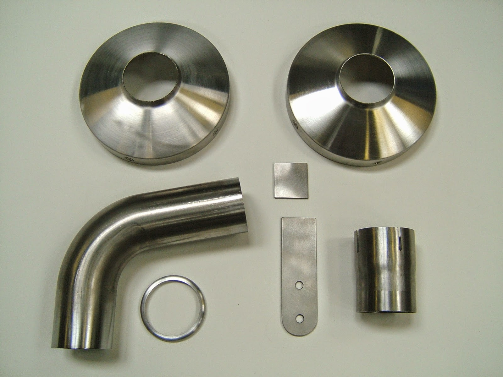These are the component parts for the inlet and exhaust cap.
