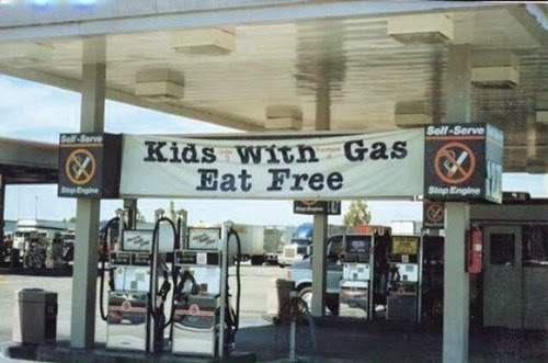 gas station sign funny fail