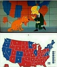 The Conspiracy Zone IS DONALD TRUMP BEING SET UP FOR A STAGED - Simpons Us Map Vs Real Voters Map