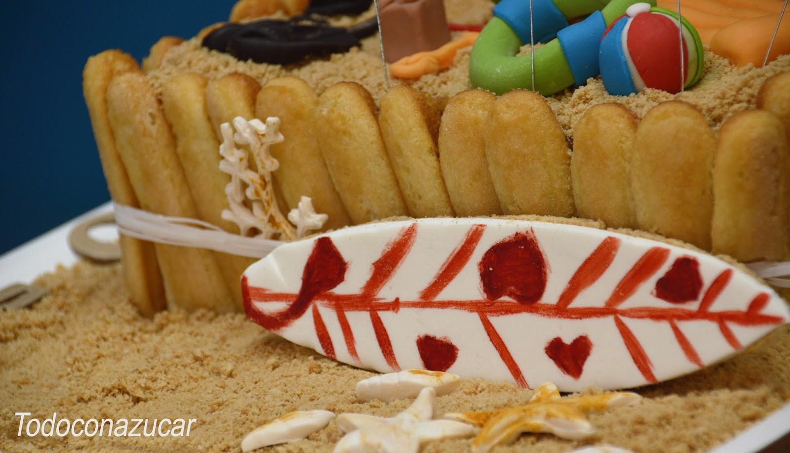Baño Blanco De Azucar:Todo con azúcar: ¡VERANO! TARTA PLAYA O CHARLOTA A LOS DOS
