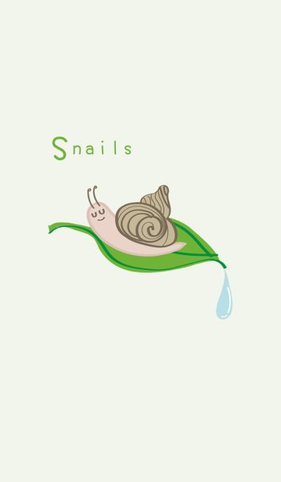 Cute lazy snail