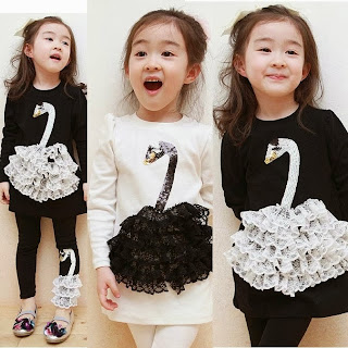 foto anak kecil perempuan bergaya ala korea