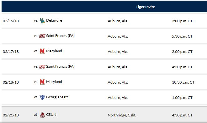 Auburn Softball Schedule