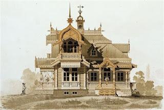 แบบบ้านไม้ วิหาร สไตล์รัสเซีย