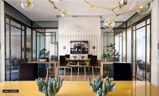 mesa lacada de amarillo chicanddeco