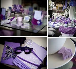 Purple Bridal Shower Decorations