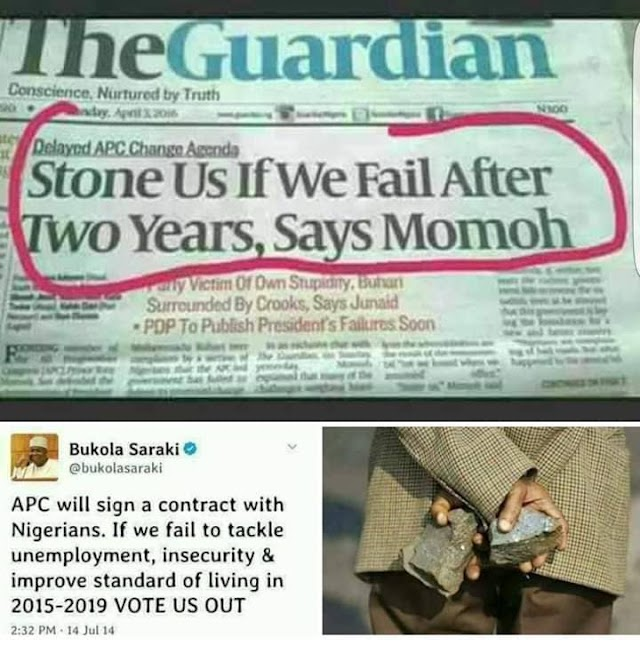 Are Nigerians Ready To Stone APC With Their 'PVC's' In 2019?