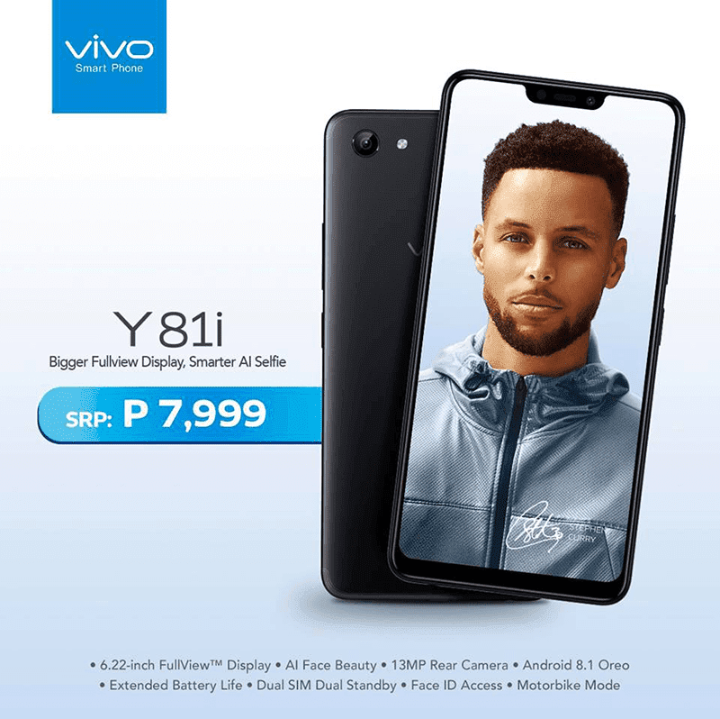 Vivo Y81i has a slightly taller 6.2-inch IPS display