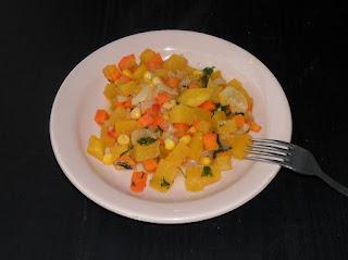 Кабачки тушеные с овощами и с кукурузой