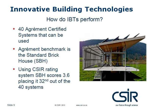 Brick built homes - CSIR - Report