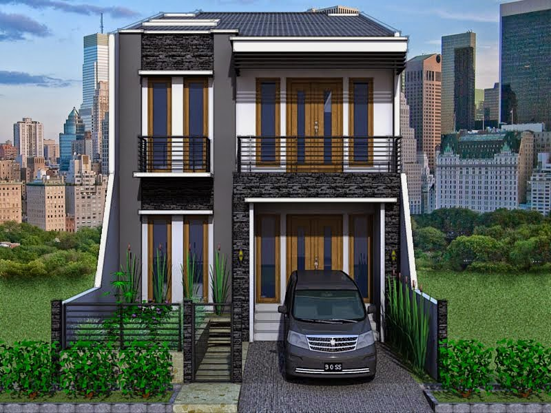 2-Storey Modern Minimalist House Design | Nyoke House Design