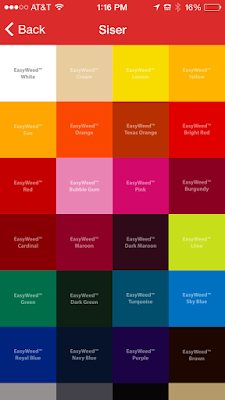 Heat transfer vinyl, HTV, temperature, siser app, HTV material colors