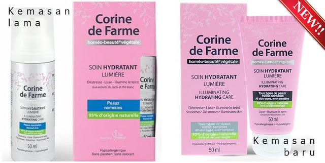 Corine de Farme Illuminating Hydrating Care, Pelembab Kulit Wajah