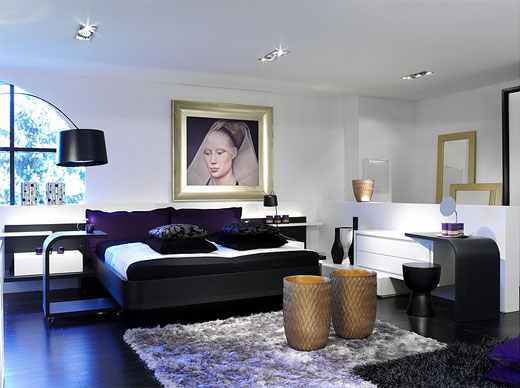 Modern Interior Decoration Bedroom Contemporary Style Luxury Bed