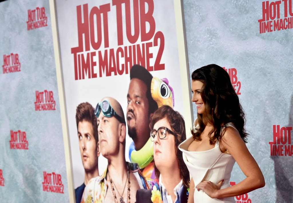 Bianca Haase shows off curves at the 'Hot Tub Time Machine 2' premiere in Westwood