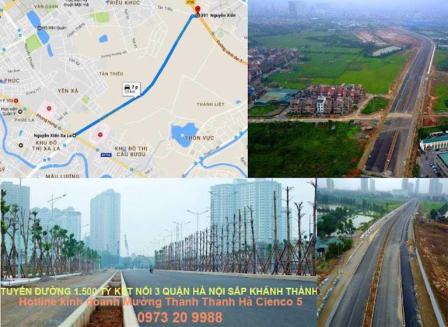 Tuyến đường huyết mạch Nguyễn Xiển - Xala sắp hoàn thành vào cuối năm 2017