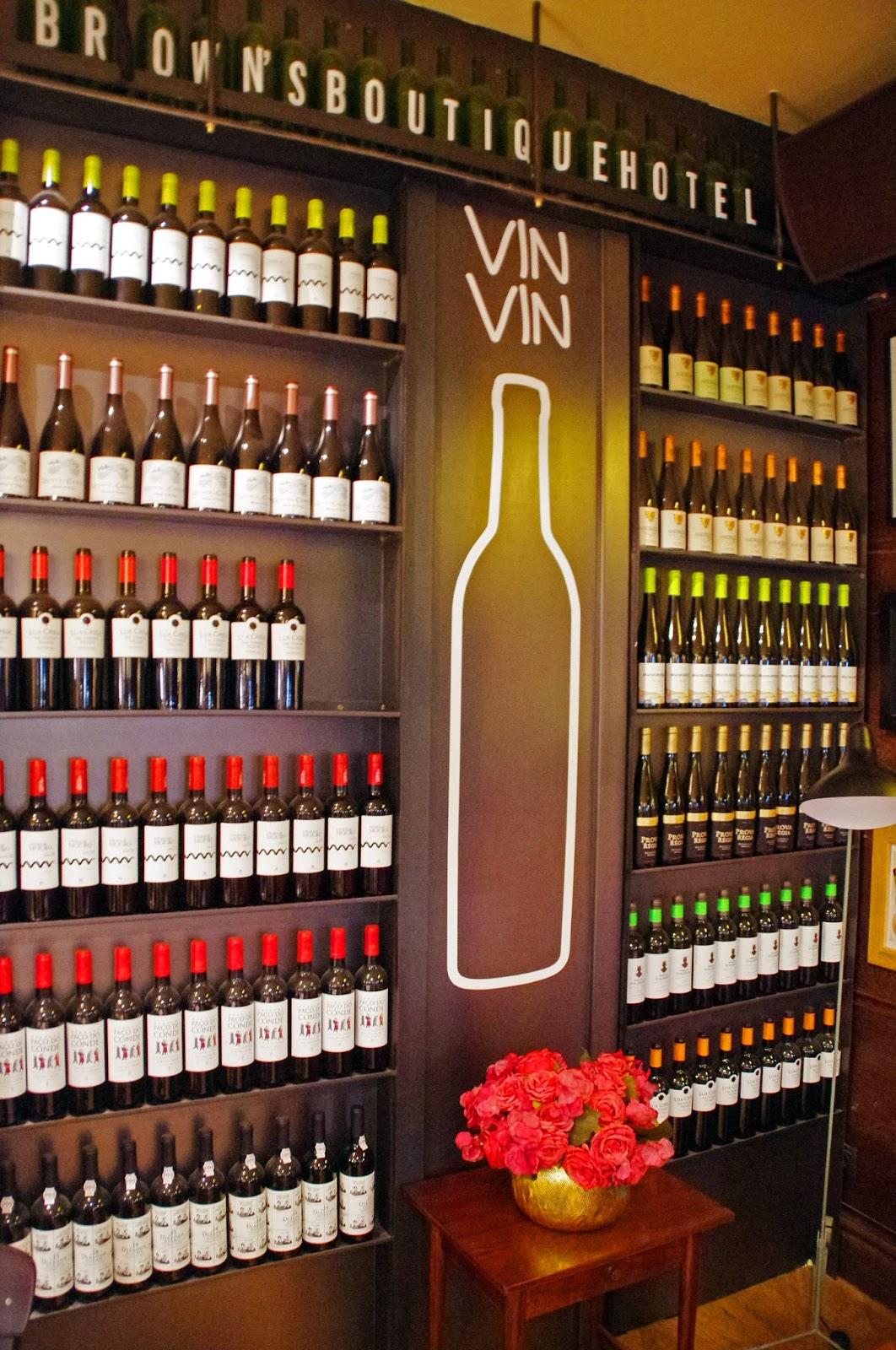 Brown's Central Hotel Lisbon Bistro Wine