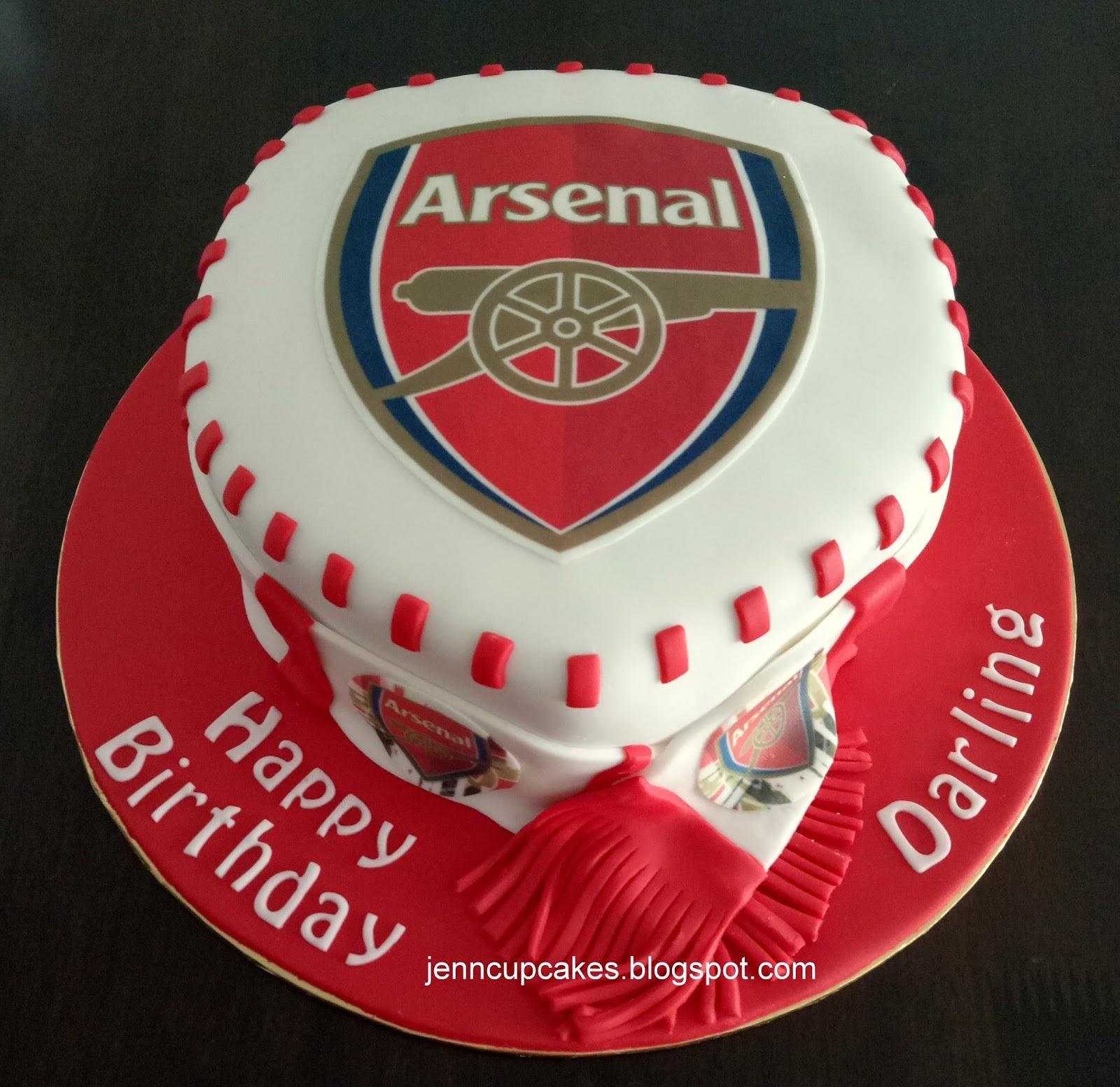 Jenn Cupcakes Muffins Arsenal Cake