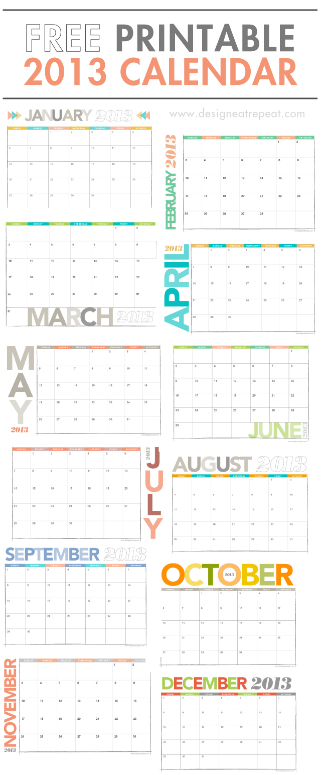 Planning Galore: My 5 Favorite Free Printable Calendars