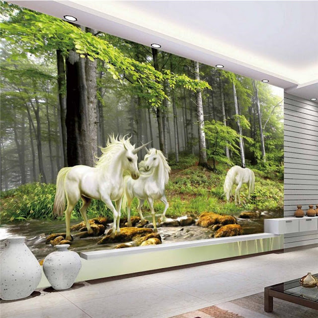 Unicorn Wall Mural Forest