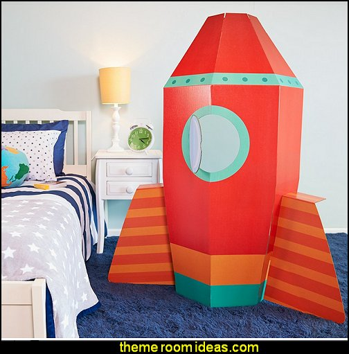 Solar System Rocket To Space Astronaut Room Decor Spaceship Cardboard Stand In