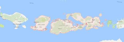 Peta Wilayah Provinsi Nusa Tenggara Barat