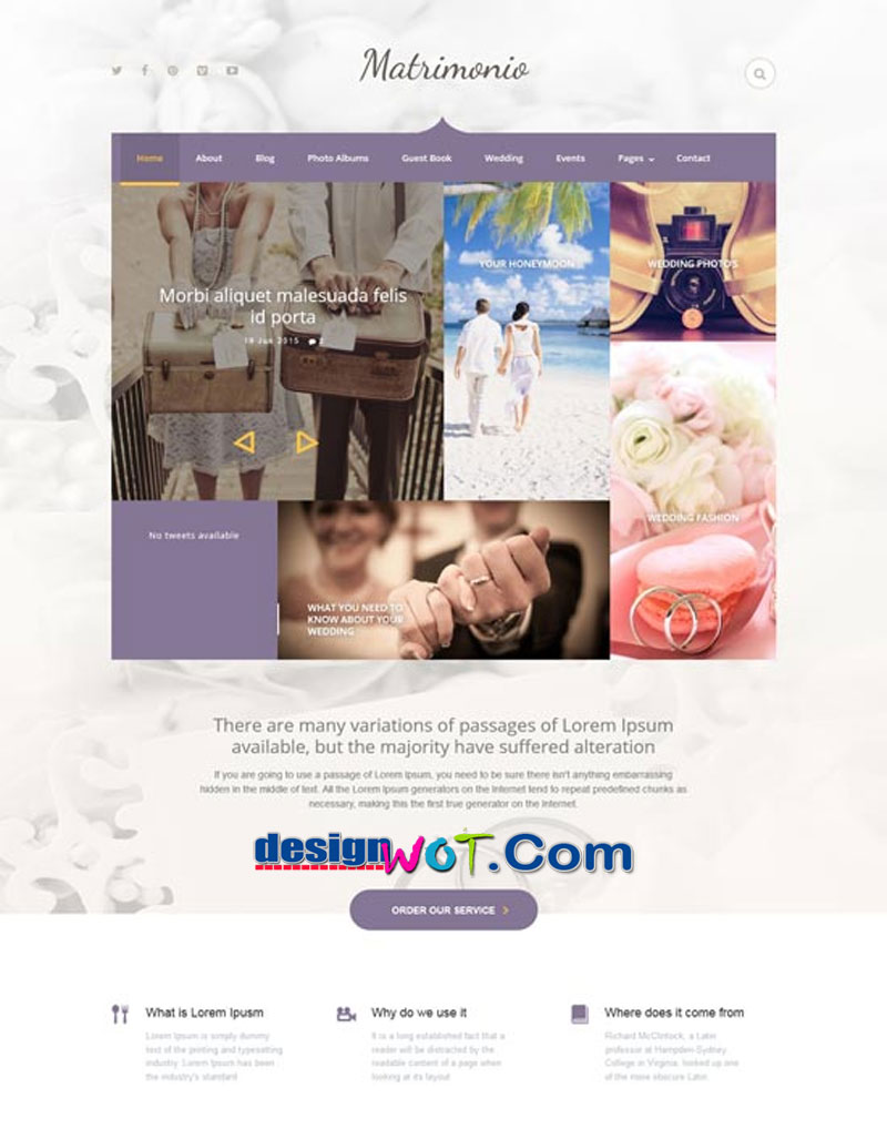 Matrimonio - Ceremony and Wedding WordPress Theme