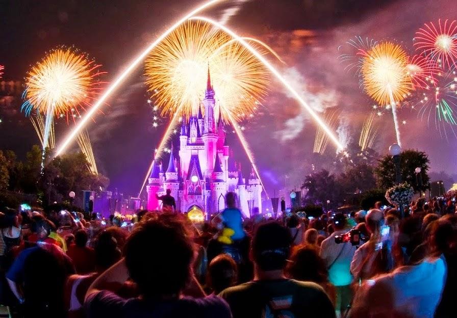 Atrações Parque Magic Kingdom - Show de Fogos