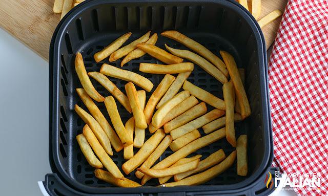air fryer frozen fries cooked