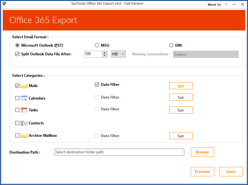 Export Emails from Office 365 to PST Stepwise - How to Guide