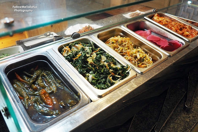 Korean Dishes On The Buffet Line