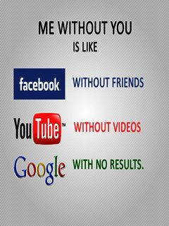 facebook with no friends google with no result youtube with no video