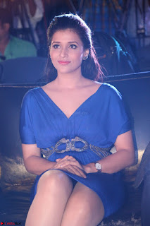 Mannara Chopra in Short Blue Dress at Rogue Movie Teaser Launch 1st March 2017 034.JPG