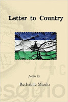 Rethabile Masilo poem book Letter to Country