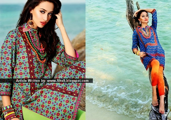 Printed Lawn Kurti with Jeans