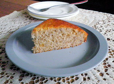 Low Fat Banana Cake Eggless Recipe @ http://treatntrick.blogspot.com