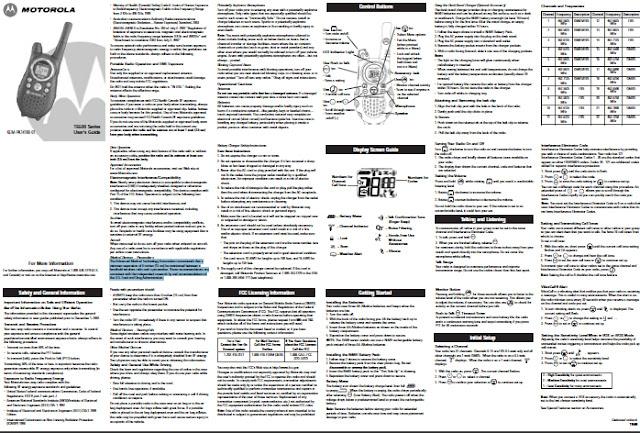motorola talkabout  manual  manual