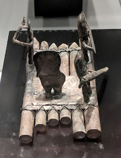 Silver raft model from Bahia culture