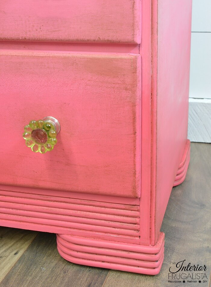 Pink Ombre Waterfall Dresser Base