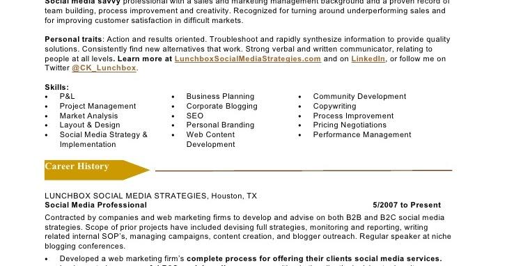 social media marketing resume marketing skills resume social media social media marketing resume sample