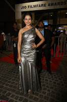 Rakul Preet Singh in Shining Glittering Golden Half Shoulder Gown at 64th Jio Filmfare Awards South ~  Exclusive 045.JPG